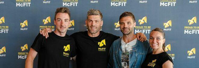 McFIT inaugura il 39esimo centro fitness in Italia con tre ospiti d'eccezione: Elia Viviani, Sara Cardin e Clemente Russo
