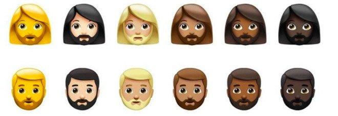 Emoji, 217 nuovi caratteri contro ogni distinzione di genere ed orientamento sessuale. Per la prima volta la donna con la barba