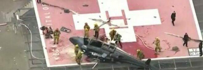 Usa, elicottero precipita sul tetto dell'ospedale: trasportava un cuore per un trapianto