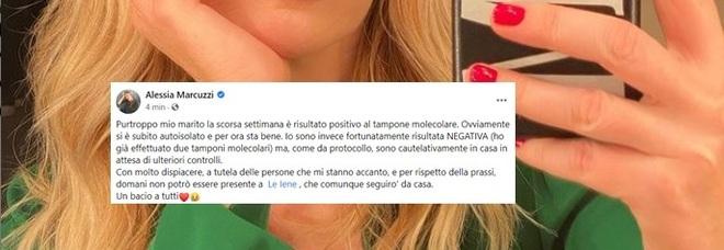 Le Iene, Alessia Marcuzzi salta la puntata: «Mio marito positivo al Covid»