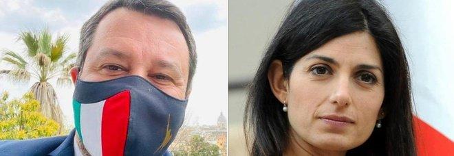 Salvini fa gli auguri a Roma, la replica di Virginia Raggi: «Non basta per far dimenticare anni di insulti»