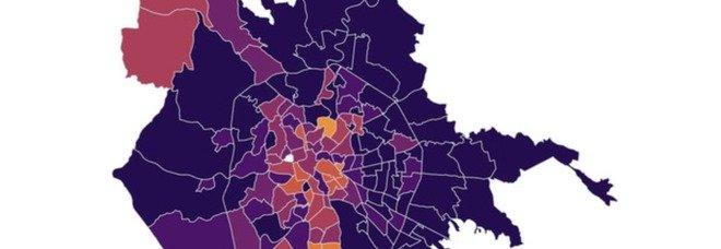 Roma, contagi in aumento: mappa quartieri