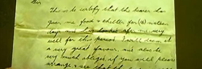 Scrive dal campo di prigionia al padre: la lettera arriva a destinazione 78 anni dopo