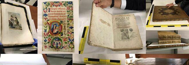 Preziosi libri rari e antichi rubati restituiti al proprietario: valgono più di tre milioni di euro