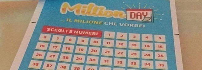 Million Day, numeri vincenti di sabato 14 settembre 2019