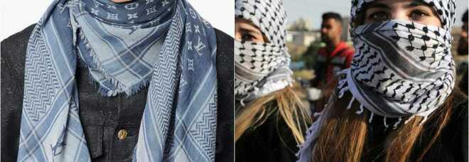 Louis Vuitton, sciarpa ispirata alla kefiah palestinese a prezzo choc. È bufera: «Trae profitto mancando di rispetto»