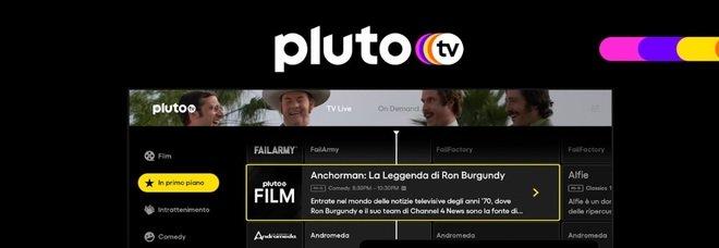 Pluto TV sbarca in Italia dal 28 ottobre, in arrivo oltre 40 canali tematici