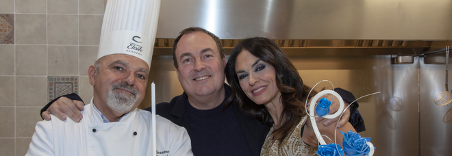 Maria Grazia Cucinotta e Giulio Violati, festa di compleanno a Roma