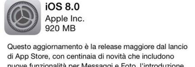 iOS 8 è disponibile, ecco come effettuare