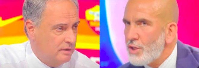 Mourinho alla Roma, scontro in diretta tv tra Di Canio e Sandro Piccinini: «Lo fai per i like»