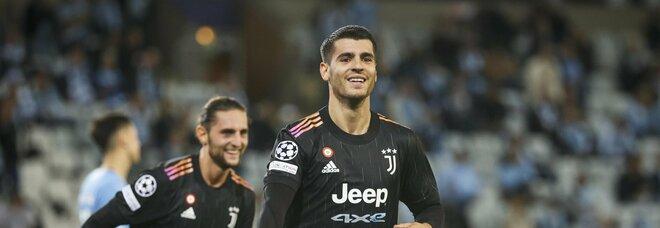 Malmoe-Juventus 0-3 I bianconeri chiudono la pratica nei primi 45'