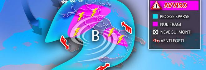 Meteo, le previsioni da incubo: tutta Italia sotto l'acqua, neve a bassa quota