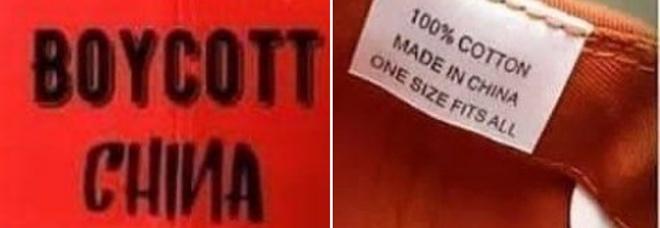 """«Boicotta la Cina», boom di t-shirt e cappelli contro Pechino. Ma molti sono """"made in China"""""""