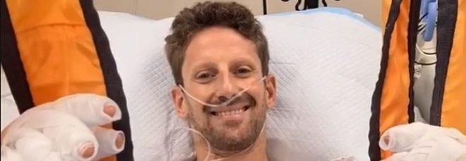 Grosjean in ospedale dopo l'incidente: «Sto bene». Solo ustioni, nessuna frattura. L'impatto a 221 km/h