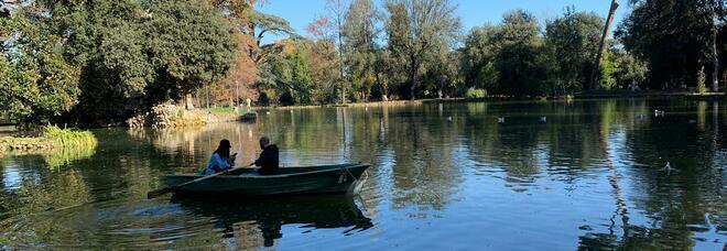 In barca a villa Borghese