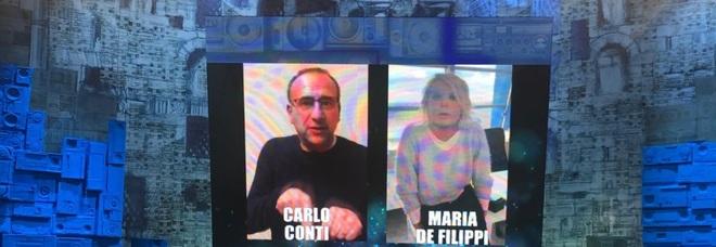 Amici 19, Carlo Conti e Maria De Filippi rivali per tre venerdì: «Non sono felice, Carlo è come un fratello»