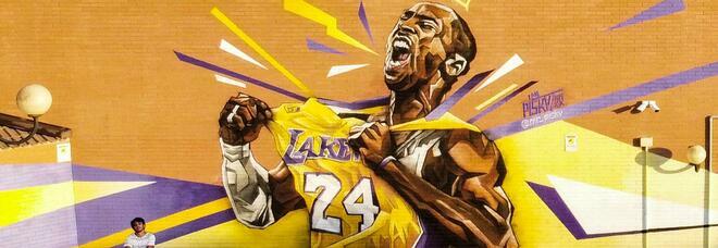 """""""Forever Kobe"""" a Spinaceto, ecco il murales da record di Piskv"""