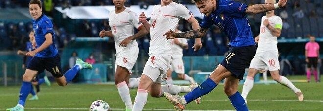 Italia-Svizzera: 3-0, doppietta di Locatelli. Immobile segna il terzo gol. Azzurri agli ottavi