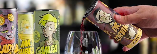 Sei lattine di vino come un fumetto sulla salvaguardia del Pianeta: è l'idea della neonata cantina veronese Zai