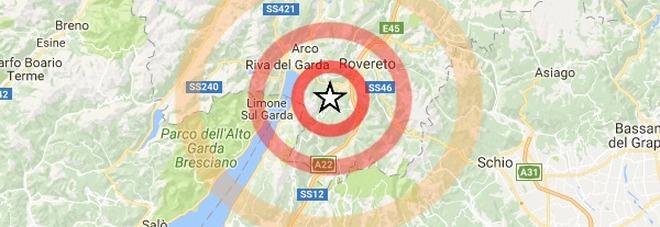 Terremoto sul lago di Garda, paura all'alba da Riva a Rovereto