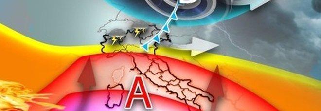Previsioni meteo, Italia divisa in due: previsti caldo torrido con punte record al sud e maltempo con temporali forti al nord