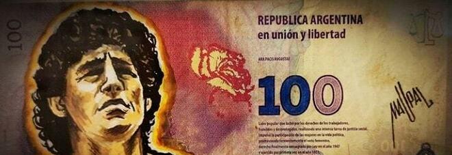 Maradona, in Argentina pronta la banconota da 100 pesos: l'ha disegnata un italiano