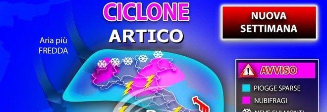 Meteo, settimana da incubo: l'Italia sotto piogge, nubifragi e neve