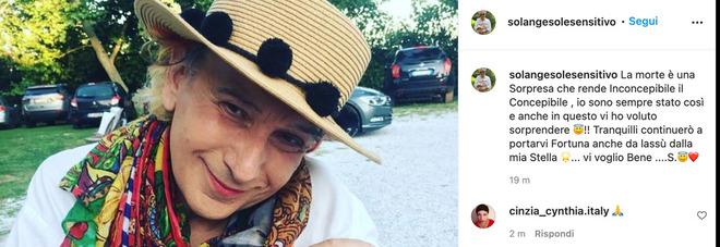 Solange è morto, il sensitivo trovato senza vita in casa: il post apparso su Instagram dopo la sua morte