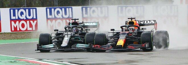 Gp Imola, vittoria di Verstappen in una gara pazza: Hamilton 2°, Ferrari quarta e quinta