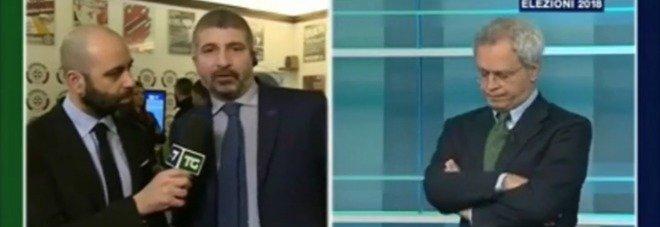 """Mentana e Casapound, polemica in diretta: """"Mai in tv in prima serata"""", """"Volevate fare Fantastico?"""""""