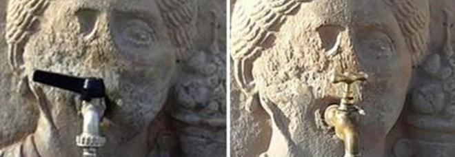 Pompei, scempio negli scavi: rubinetti moderni su fontane di duemila anni fa