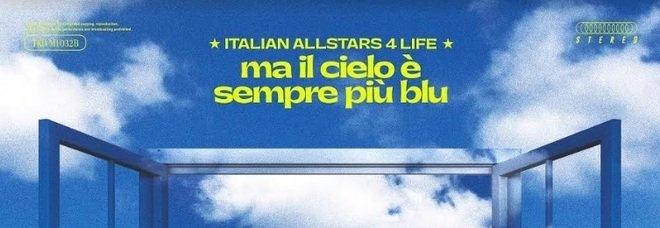 """""""Ma il cielo è sempre più blu"""": 50 artisti insieme per la Croce Rossa Italiana. Amazon dona 500.000 euro"""