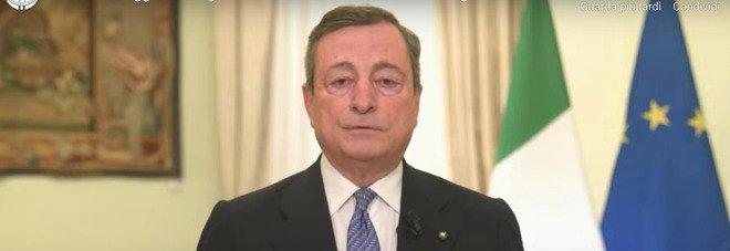 Mario Draghi: «L'emergenza peggiora, compito del governo salvaguardare con ogni mezzo la vita degli italiani. Recovery opportunità per le donne» IL VIDEO