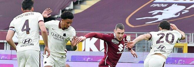 Le pagelle di Torino-Roma 3-1: Fazio imbarazzante (4), Villar non pervenuto (4,5), si salva Mayoral (6)