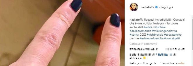 Nadia Toffa torna su Instagram e Twitter dopo una lunga assenza: la sua risposta a chi la dà per morta
