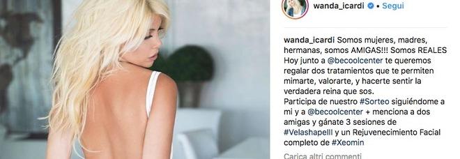 Wanda Nara superhot su Instagram: il body bianco fa impazzire i followers