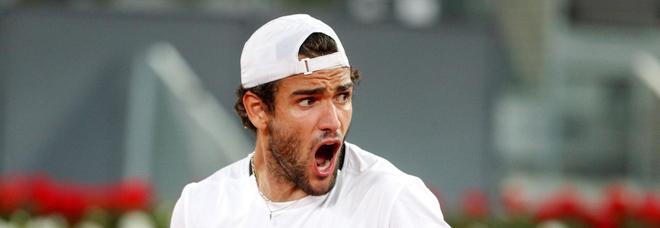 Tennis, Masters1000 di Madrid: un fantastico Matteo Berrettini annichilisce Ruud e conquista la finale contro Zverev