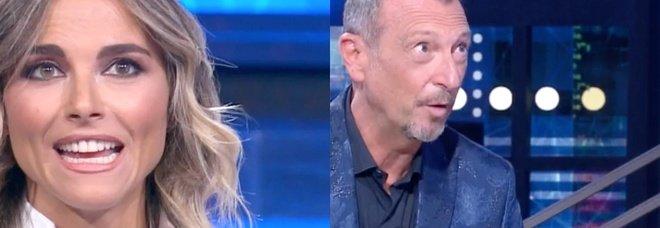 """Amadeus. Soliti Ignoti, il """"brutto gesto"""" dell'ignoto a Francesca Fialdini. Fan increduli: «Che cattivo...»"""