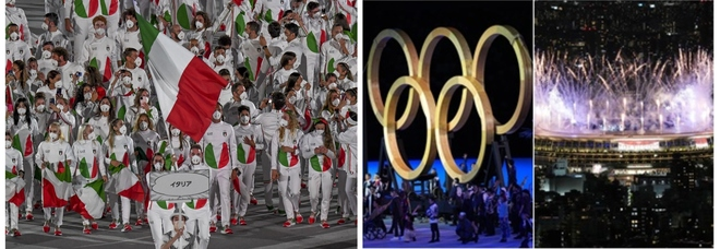 Olimpiadi, la cerimonia d'apertura in diretta. Gli azzurri sfilano nello stadio (vuoto) di Tokyo. Nella clip dei Giochi anche Milano in lockdown