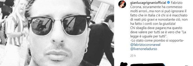 Fabrizio Corona, Gianluca Grignani si schiera con lui: «C'è chi si è macchiato di reati peggiori ma non ha fatto i conti con la giustizia»