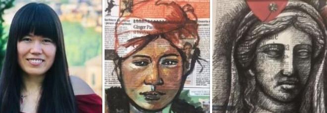 Juanni, l'artista cinese che dipinge Leggo: «Unisco le news e la storia dell'arte»