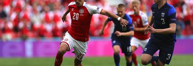 Danimarca-Finlandia 0-1, decide Pohjanpalo dopo la grande paura per Eriksen