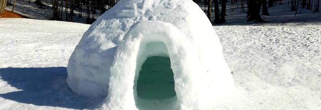 Solstizio d'inverno con igloo, tutti eschimesi per un giorno sul Monte Livata