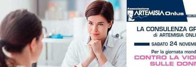 Artemisia Onlus: consulenze gratuite per la giornata mondiale contro la violenza sulle donne