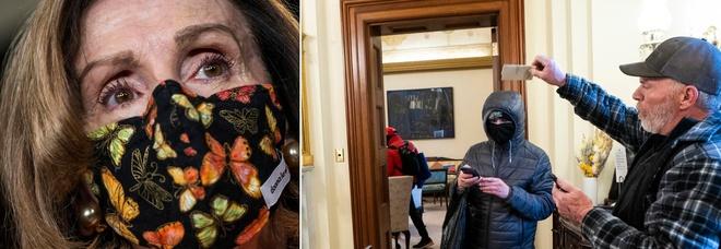 Assalto al Congresso, rubato anche il pc di Nancy Pelosi: «Una donna voleva venderlo agli 007 russi»
