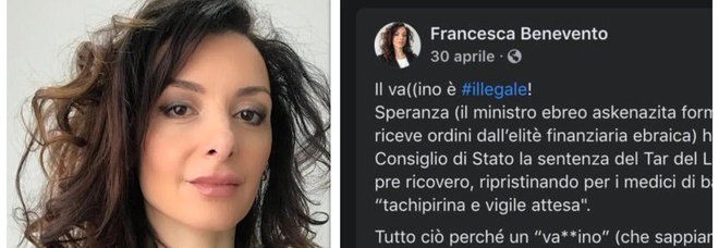 Francesca Benevento, bufera sull'ex grillina no vax. Michetti chiarisce: «Mi dissocio da ciò che scrive»