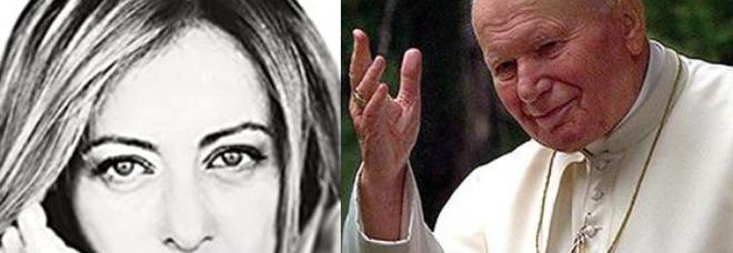 Giorgia Meloni nel suo libro: Il mio Papa è Giovanni Paolo Secondo