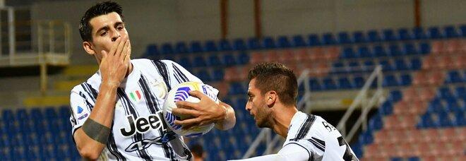 Juve, Morata salva i bianconeri a Crotone, espulso Chiesa. Finisce 1-1
