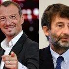 Sanremo 2021 Amadeus valuta l'addio al Festival. Il ministro Franceschini: «All'Ariston niente pubblico, neanche figuranti».