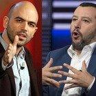 Salvini avverte Saviano: «La scorta? Sono soldi degli italiani e lui è spesso all'estero...»